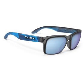 Rudy Project Spinhawk Slim Sunglasses Neo Camo Crystal Blue - RP Optics Multilaser Blue